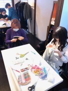 3/21 刺繍教室。